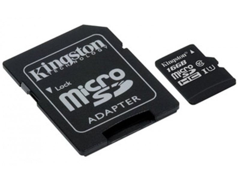 Kingston micro SDHC karta 16GB Class 10