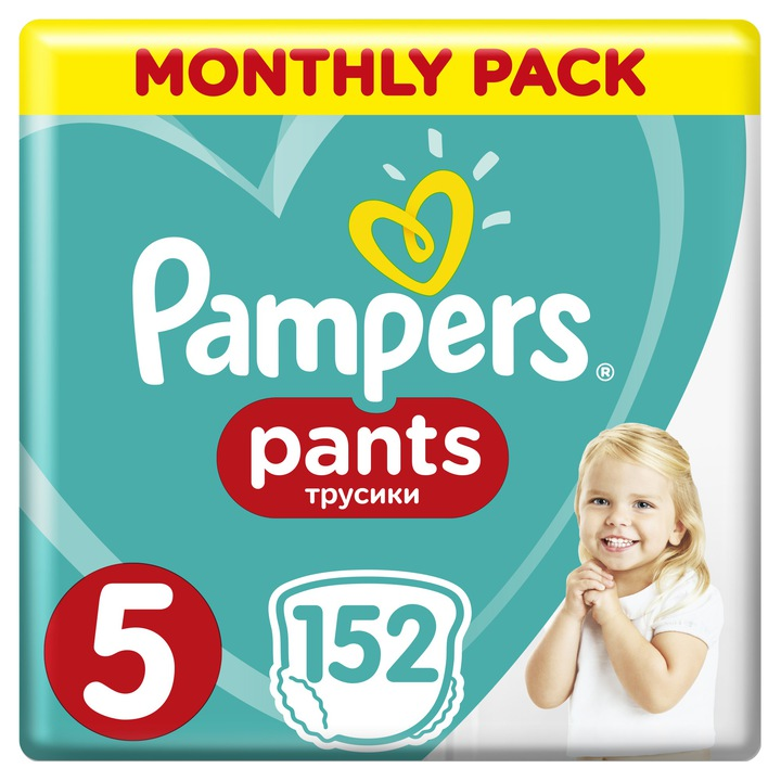 Pampers Pants 5 Active Baby Dry 12-17 kg 152 ks
