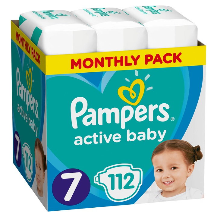Pampers Active Baby 7-15 kg 112 ks