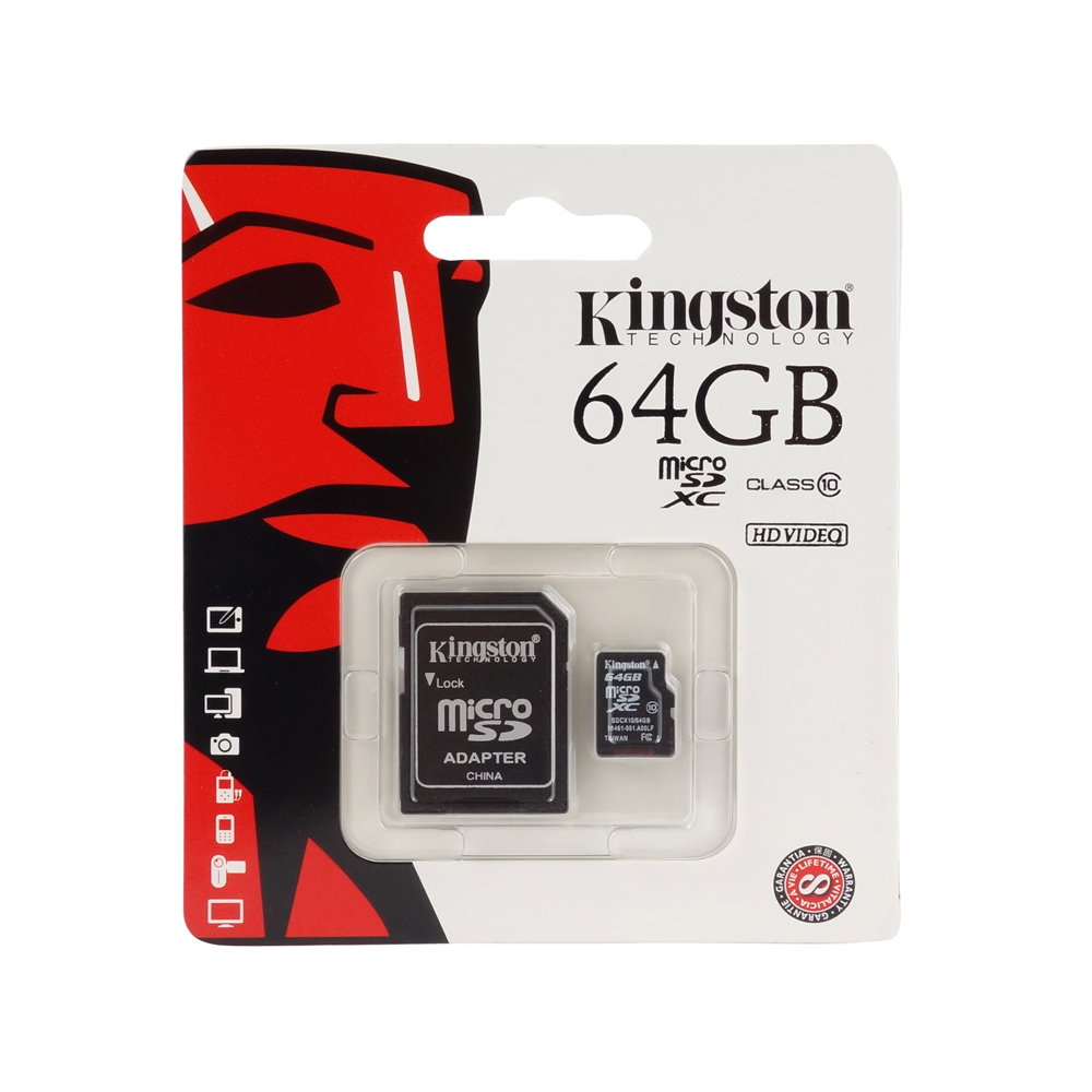 Kingston micro SDHC karta 64GB Class 10